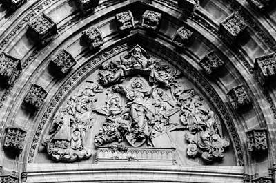 Monochrome Photograph - Seville - Detail Of The Cathedral by Andrea Mazzocchetti