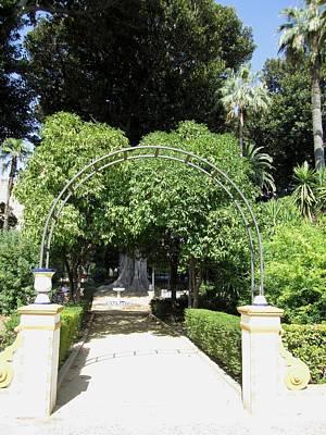 Photograph - Seville Garden Pathway II Spain by John Shiron