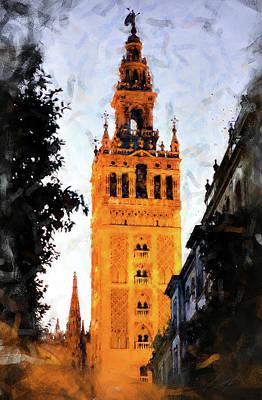 Painting - Seville, Giralda - 01 by Andrea Mazzocchetti