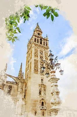 Painting - Seville, Giralda - 07 by Andrea Mazzocchetti