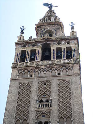 Photograph - Seville Giralda Tower Iv Spain by John Shiron