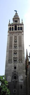 Photograph - Seville Giralda Tower Spain by John Shiron