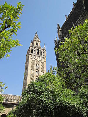Photograph - Seville Giralda Tower V Spain by John Shiron
