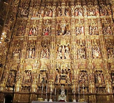 Photograph - Seville Golden Wall Cathedral Spain by John Shiron