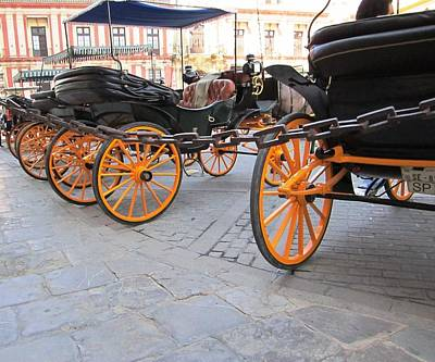 Photograph - Seville Horse Carriage Spain by John Shiron