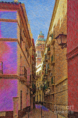 Digital Art - Seville In Pastel by Mary Machare