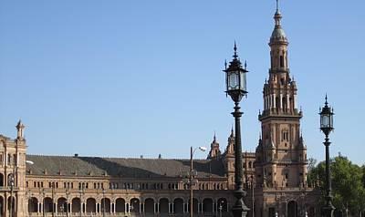 Photograph - Seville Plaza De Espana IIi Spain by John Shiron