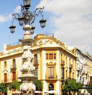 Photograph - Seville Santa Cruz Quarter Vi Spain by John Shiron