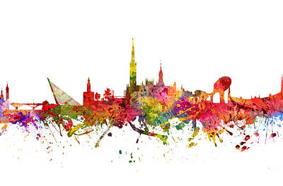 Rainbow Colors Digital Art - Seville Spain Cityscape 08 by Aged Pixel