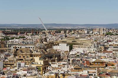 Photograph - Seville Spain - Hot Landmarks From Above by Georgia Mizuleva
