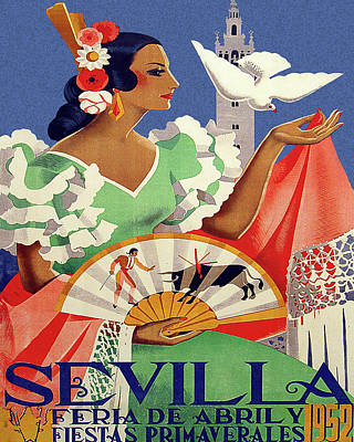 Seville, Spain Travel Poster Art Print