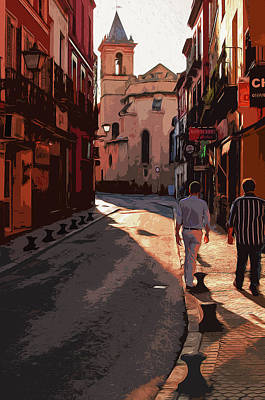 Painting - Seville, The Colorful Streets Of Spain by Andrea Mazzocchetti