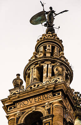 Valentines Day - Seville - The Giralda - detail 2 by AM FineArtPrints