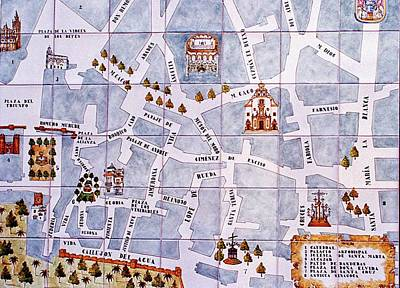 Photograph - Seville Tile Map by Gene Norris