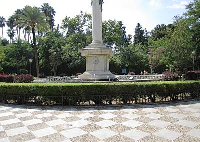 Photograph - Seville Water Fountain II Spain by John Shiron