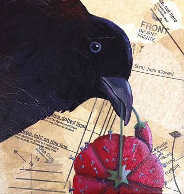 Painting - Sew Very Crow by Kerrie Hubbard