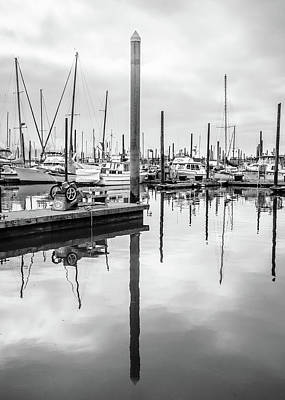 Photograph - Seward Alaska Marina In Black And White by Joni Eskridge