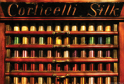 Sewing Thread Photograph - Sewing - Corticelli Silk  by Mike Savad