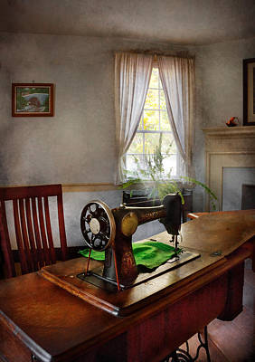Photograph - Sewing - My Sewing Room  by Mike Savad