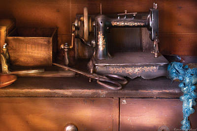Photograph - Sewing - New National Sewing Machine  by Mike Savad