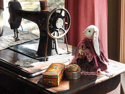 Photograph - Sewing Bunny by Robin Zygelman