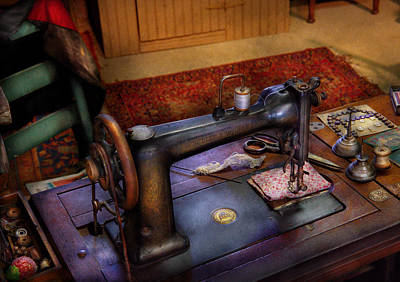 Photograph - Sewing Machine - Sewing Project by Mike Savad