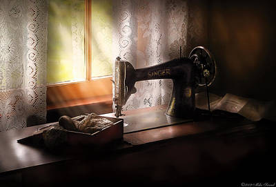 Photograph - Sewing Machine -  Singer II  by Mike Savad