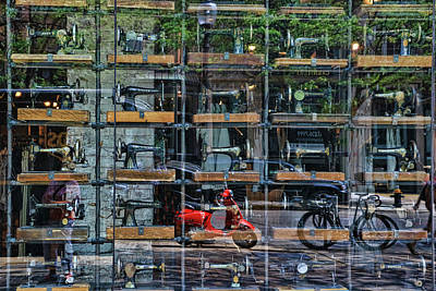 Photograph - Sewing Machine Museum - Boston by Allen Beatty