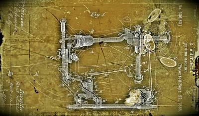 Digital Art - Sewing Machine Patent by Joseph Hawkins