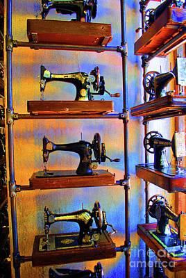 Sewing Machine Retirement Art Print by Jost Houk