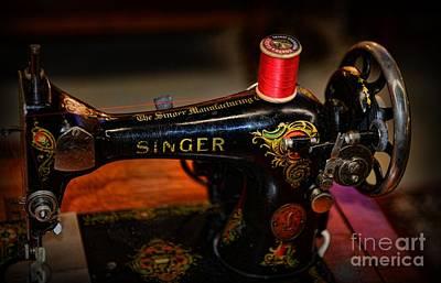 Sewing Machine - Singer Sewing Machine Art Print
