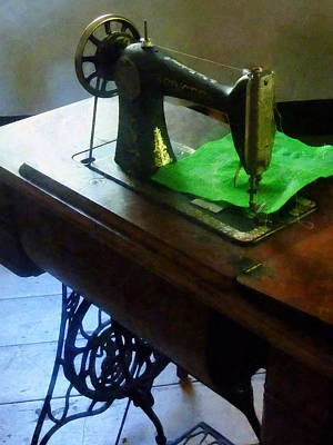 Photograph - Sewing Machine With Green Cloth by Susan Savad