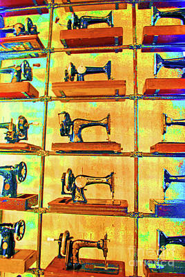 Maching Quilting Photograph - Sewing Machines Come To Life by Jost Houk