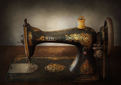 Sewing - Sing A Song Art Print by Mike Savad
