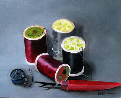 Painting - Sewing Things by LaVonne Hand