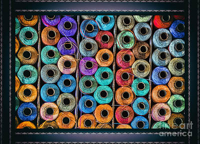 Tissage Photograph - Sewing Threads Portrait by Bouquet  Of arts