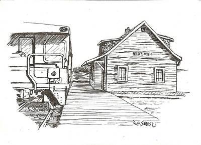 Historic Site Mixed Media - Sexsmith Train Station by Rick Stoesz