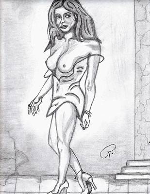 Sexy Babe Print by Richard Heyman