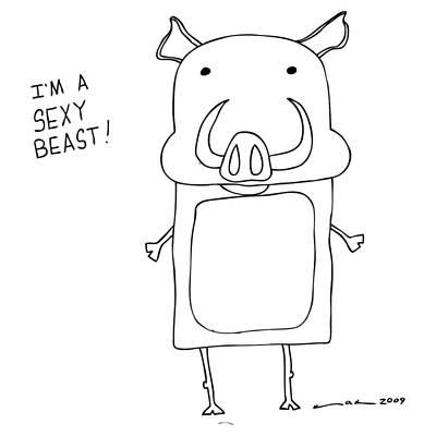 Sexy Beast Comic Art Print by Karl Addison