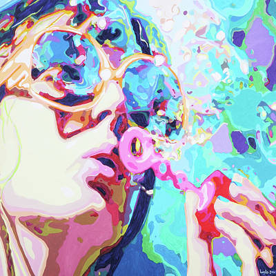 Painting - Sexy Bubbles by Bobby Logic