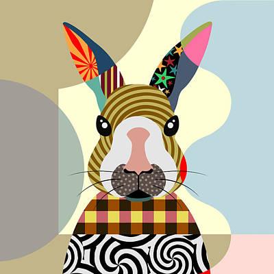 Purebred Digital Art - Sexy Bunny by Lanre Studio