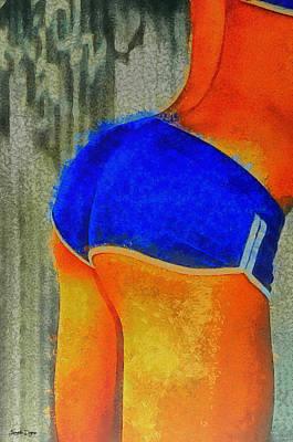 Posing Painting - Sexy Girl - Pa by Leonardo Digenio
