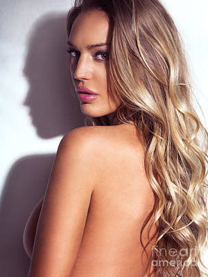 Woman Photograph - Sexy Glamorous Woman With Blond Hair Beauty Portrait Charlie Riina by Oleksiy Maksymenko