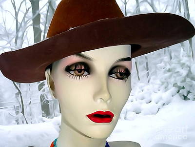 Digital Art - Sexy In Snowstorm by Ed Weidman