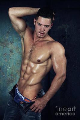 Nudes Digital Art - Sexy Male  by Mark Ashkenazi