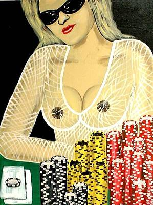 Sexy Poker Girl Art Print by Teo Alfonso