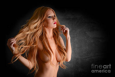 Sexy Red Head  Art Print by Jt PhotoDesign