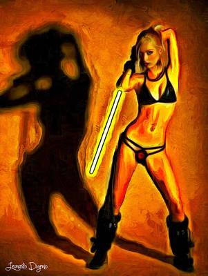 Dancing Girl Digital Art - Sexy Star Wars - Da by Leonardo Digenio