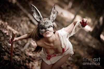 Huntress Photograph - Sexy Steampunk Rabitt by Jt PhotoDesign