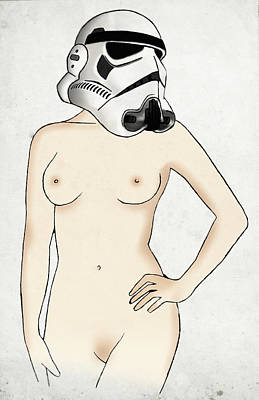 Erotic Wall Art - Digital Art - Sexy Stormtrooper by Nicklas Gustafsson